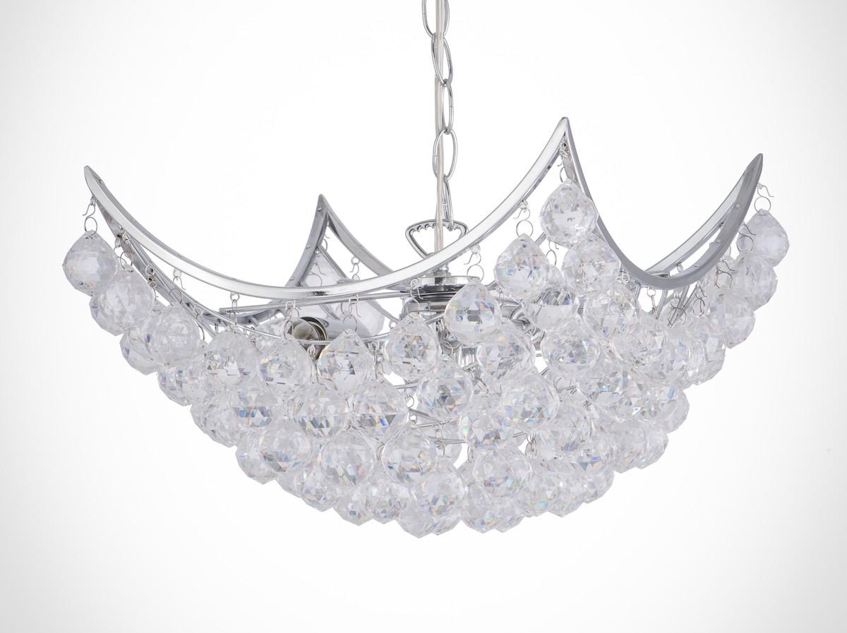 鍍鉻方形透明壓克力珠吸吊兩用燈-BNL00066