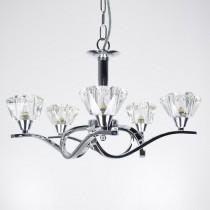 白鉻5燈水晶罩吊燈-BNL00091