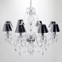 現代典雅8燈鏡面PVC罩吊燈-BNL00100
