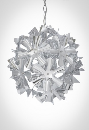 鍍鉻波浪花紋吊燈-BNL00052
