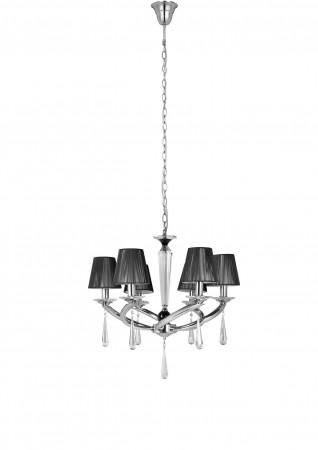 Philips飛利浦黑曜水晶六燈頭吊燈-30699