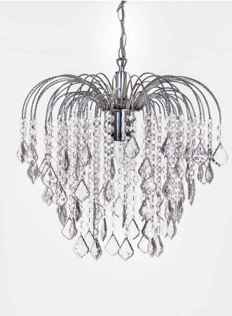 鍍鉻六層透明壓克力珠噴泉吊燈-BNL00034