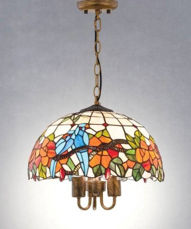蒂芬尼手工彩繪玻璃圓頂吊燈-花瓣