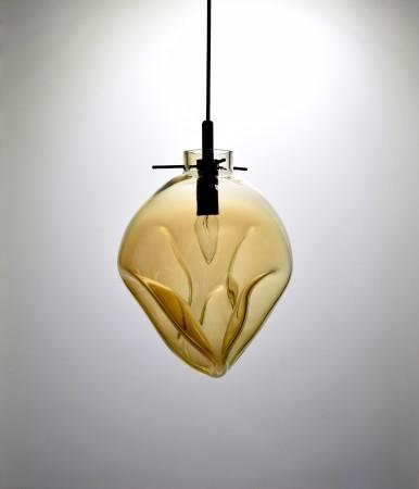 手工吹製琥珀色玻璃吊燈-BNL00114