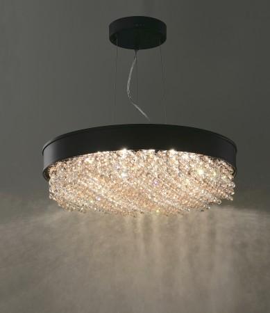 黑色大圓盤水晶吊燈
