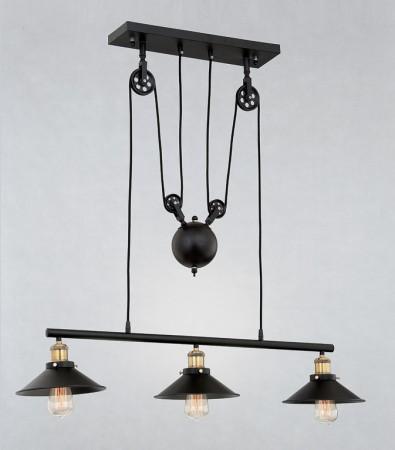 Loft工業風滑輪吊燈-LS-7114-1