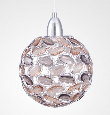 鍍鉻香檳色壓克力珠圓球吊燈-BNL00011