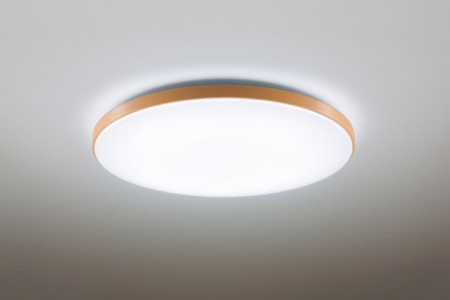 Panasonic國際牌金色仿木邊框吸頂燈(5-7坪適用)-HH-LAZ5047209