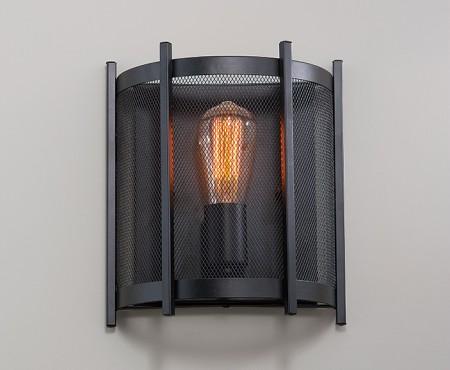 Loft工業風鐵網壁燈