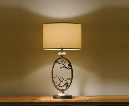 風景畫鐵藝古銅桌燈
