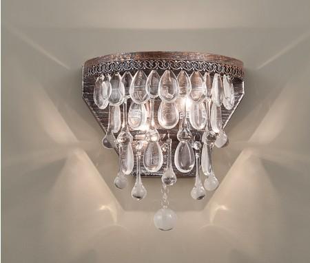 鄉村風玻璃古銅作舊壁燈-LS-7193-3