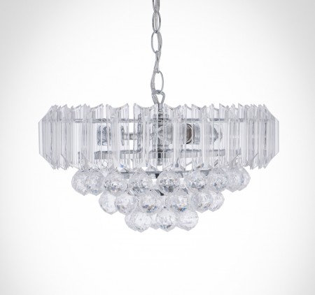 鍍鉻透明壓克力珠吸吊兩用燈-BNL00065