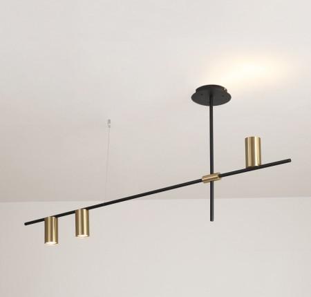 黑色長桿3燈吊燈-客製品