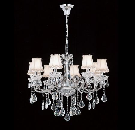 華麗宮廷罩8燈頭水晶吊燈-LS-7017-1