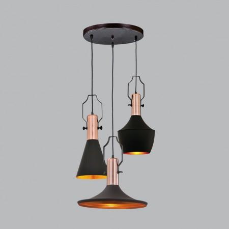Loft工業風鋁材三吊燈