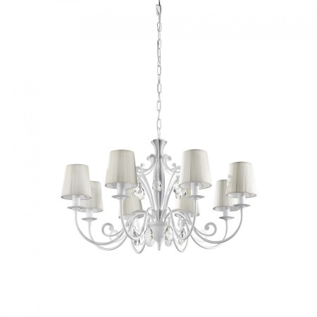 Philips飛利浦白卡蒂8燈頭吊燈-36681