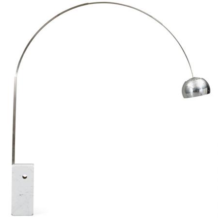 拋物線釣魚立燈-白色大理石底座-客製品