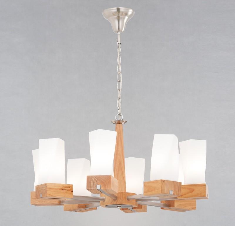 北歐風原木燭臺吊燈-LS-7116-1