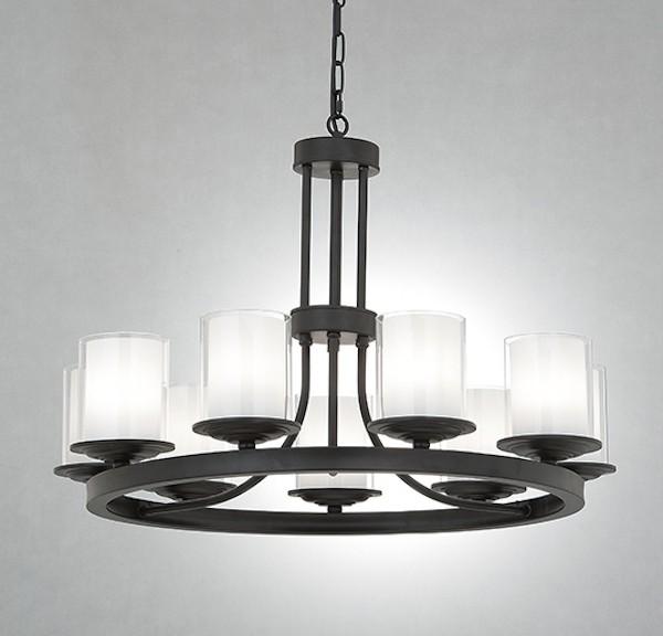 北歐風圓形燭台式9燈頭吊燈-LS-7108-1