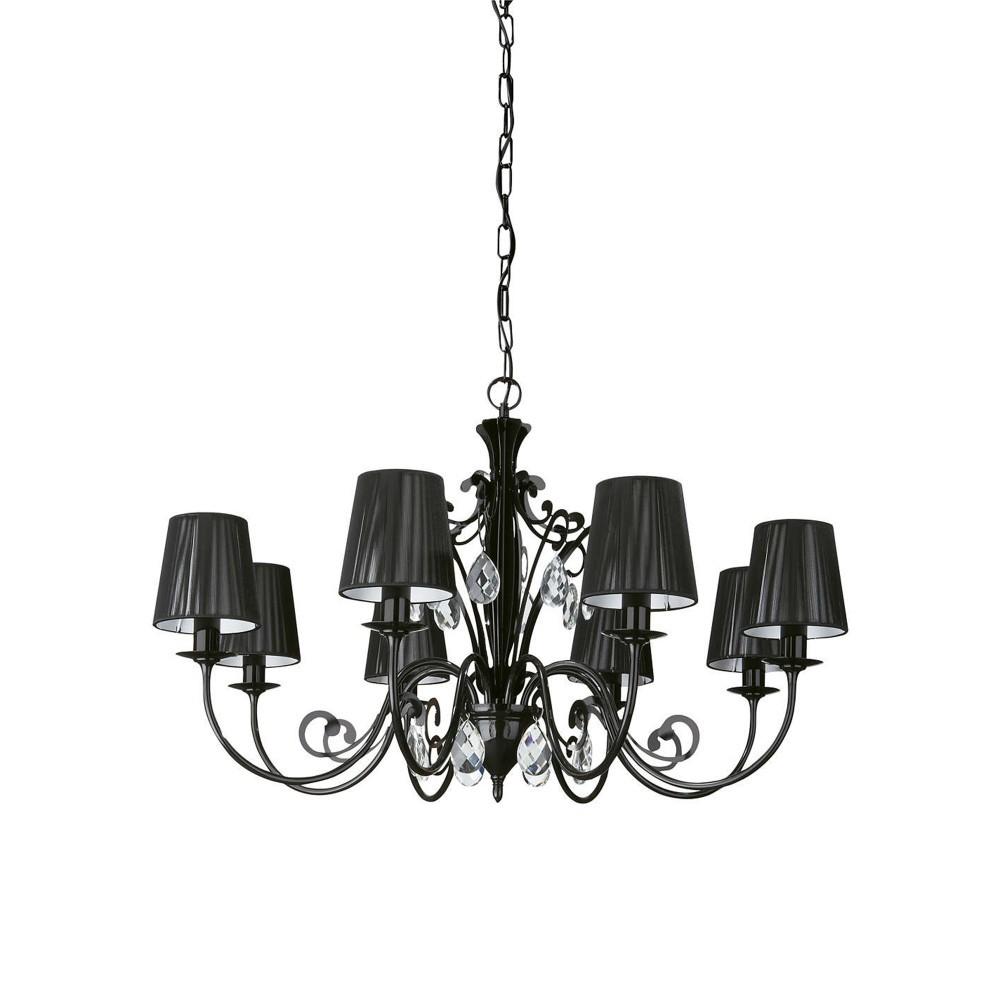 Philips飛利浦黑卡蒂8燈頭吊燈-36681