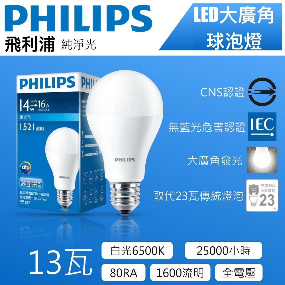 Philips飛利浦13W白光LED全電壓燈泡