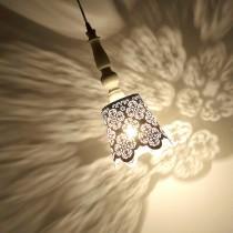 歐風金屬烤漆雕花吊燈