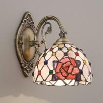 蒂芬尼手工鑲嵌玻璃古銅壁燈