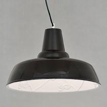 鄉村風poly雕花黑色燈罩-LS-7147-2