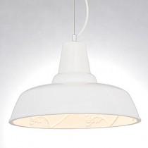 鄉村風poly雕花白色燈罩-LS-7147-1
