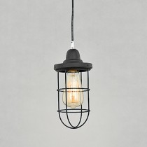 Loft工業風鐵網單燈吊燈-LS-7068-2