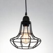 Loft工業風復古鐵網單燈吊燈-LS-7055-2