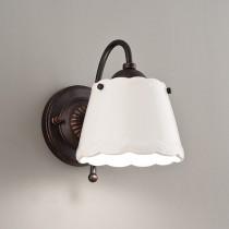 鄉村風陶瓷白色燈罩壁燈