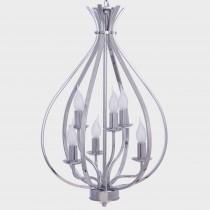 電鍍鍍鉻經典款6燈燭光吊燈-BNL00078