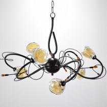 古典山茶花6燈吊燈-BNL00097