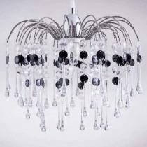 鍍鉻噴泉支架黑色壓克力珠吊燈-BNL00042