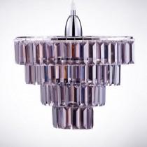 鍍鉻多層次燻黑壓克力板吊燈-BNL00043