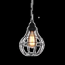Loft工業風復古鐵網單燈吊燈-LS-7055-1