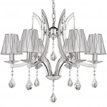 Philips飛利浦璀璨水晶六燈頭吊燈-30690