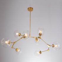 金色分子8燈頭吊燈-客製品