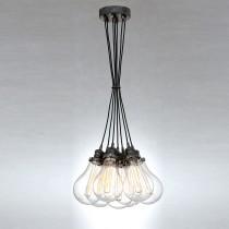 Loft工業風7燈頭燈泡吊燈-LS-7063-1