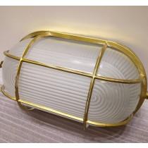 Loft工業風復古金色長圓形吸頂燈壁燈兩用
