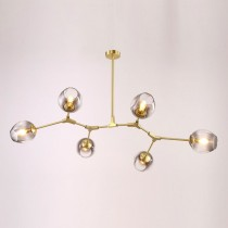 金色分子6燈頭吊燈-客製品