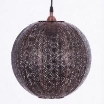 紅銅刷黑蕾絲花邊圓形吊燈-BNL00075