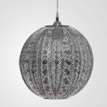 亮鎳蕾絲花邊圓形吊燈-BNL00076