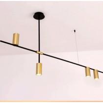 黑色長桿4燈吊燈-客製品