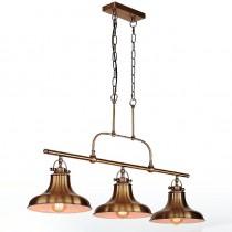 Loft當代工業風古銅三吊燈