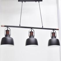 英倫復古三燈頭黑色吊燈-BNL00125
