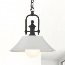 懷舊典雅白色陶瓷吊燈