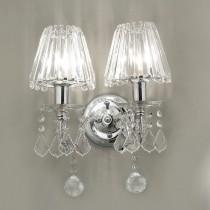 水晶雙燭台壁燈