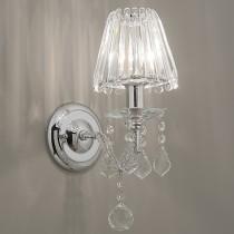 水晶單燭台壁燈
